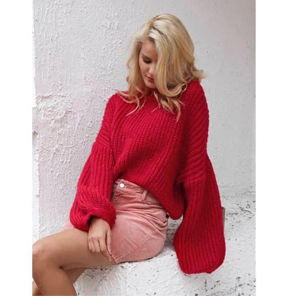 Boutique Dresses & Skirts - Long Sleeve globe Loose Pullover Knit Sweater Top